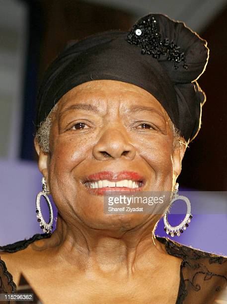 Maya Angelou during Arthur Ashe Foundation Awards Honoring Maya Angelou May 1 2006 at Chelsea Piers in New York City New York United States