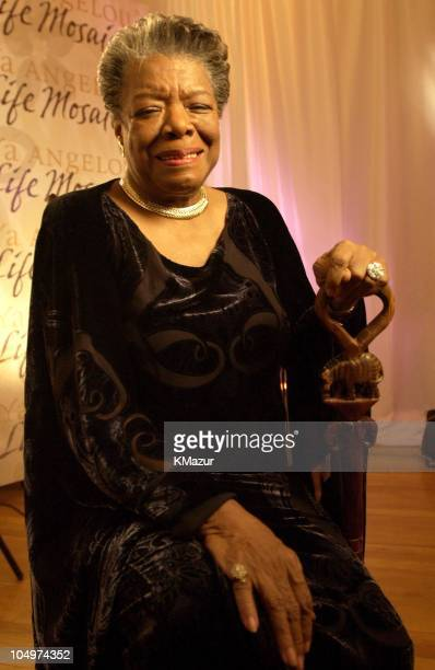 Maya Angelou during 'Maya Angelou Life Mosaic' Collection by Hallmark at Metropolitan Pavilion in New York City New York United States