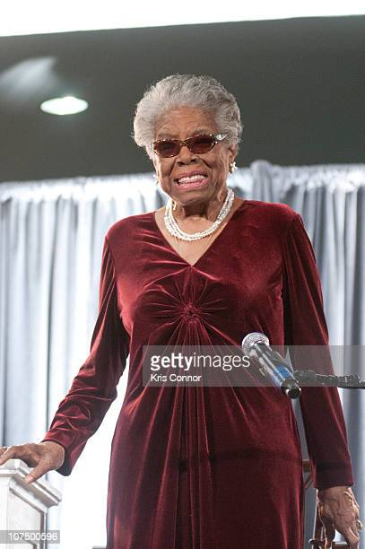 Maya Angelou speaks during the AARP Magazine's 2011 Inspire Awards at Ronald Reagan Building on December 9 2010 in Washington DC
