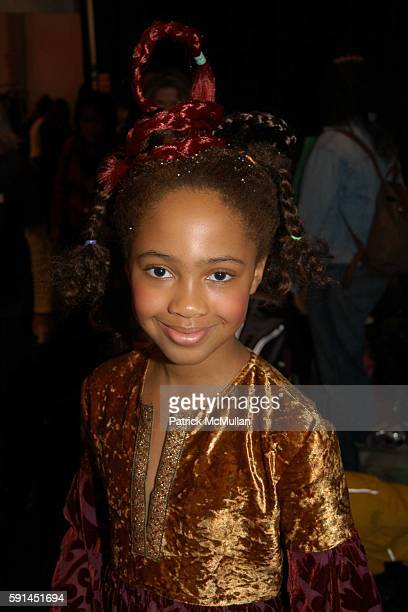 Maya attends Child Magazine Fashion Show at The Atelier Tent at Bryant Park on February 7 2005 in New York City