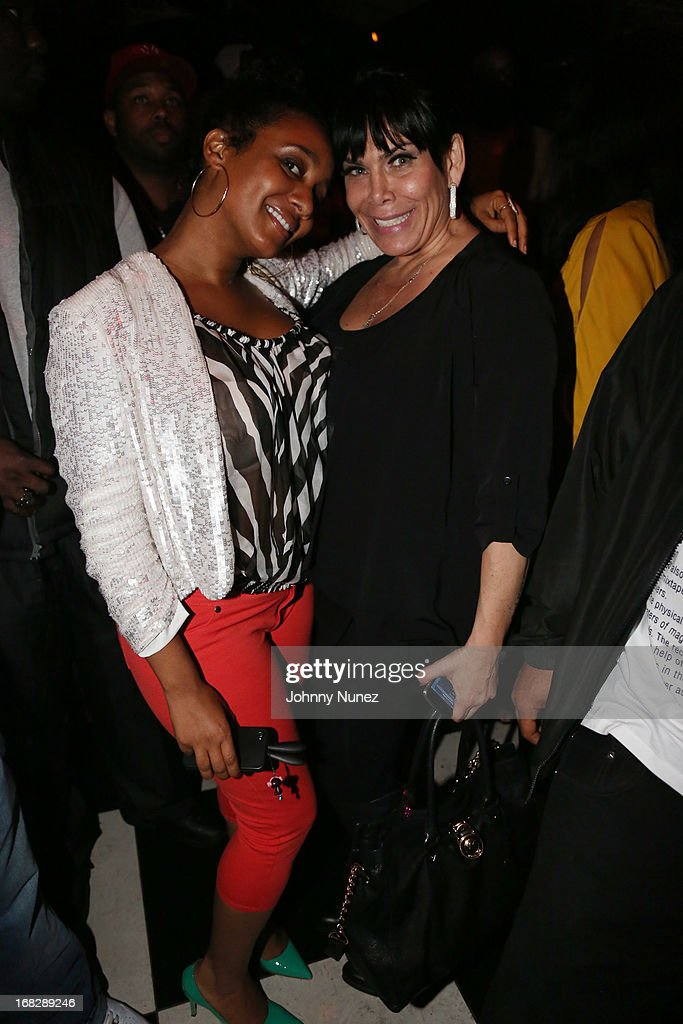 Maya Boyd and <a gi-track='captionPersonalityLinkClicked' href=/galleries/search?phrase=Renee+Graziano&family=editorial&specificpeople=7643222 ng-click='$event.stopPropagation()'>Renee Graziano</a> attend the French Montana Album listening party at HiLo on May 7, 2013 in New York City.