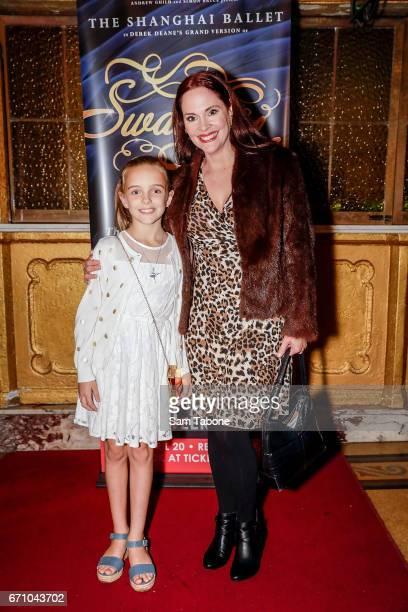 Maya Corbett and Chelsea Plumley arrives for opening night of the Shanghai Ballet's production of Swan Lake at Regent Theatre on April 21 2017 in...