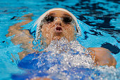 Maya DiRado of the United States competes in a semifinal heat for the Women's 200 Meter Backstroke during Day Six of the 2016 US Olympic Team...