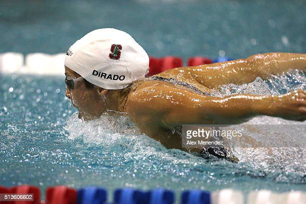 Maya DiRado participates in the Women 400 LC Meter IM final during day one of the Arena Pro Swim Series at the YMCA of Central Florida Aquatic Center...