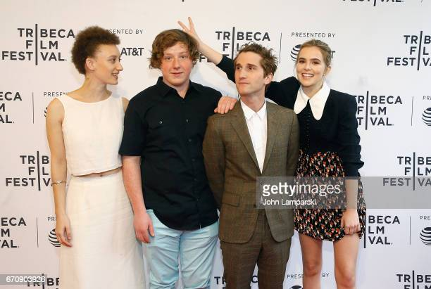 Maya Eshet Joey Morgan Max Winkler and Zoey Deutch attend 'Flower' during the 2017 Tribeca Film Festival at SVA Theatre on April 20 2017 in New York...