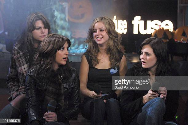 Maya Ford Allison Robertson Torry Castellano and Brett Anderson of The Donnas
