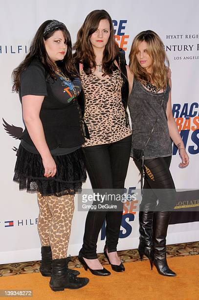 Maya Ford Brett Anderson and Alison Robertson of the musical group The Donnas arrive at the 18th Annual Race To Erase MS at the Hyatt Regency Century...