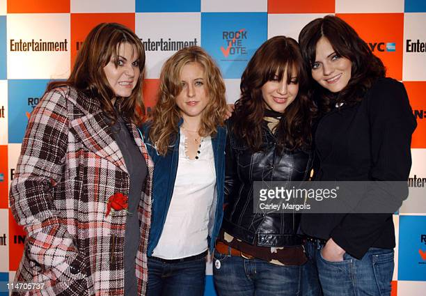 Maya Ford Torry Castellano Allison Robertson and Brett Anderson of The Donnas