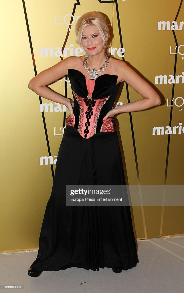 Maya Hansen attends Marie Claire Prix de la Moda Awards 2012 on November 22, 2012 in Madrid, Spain.
