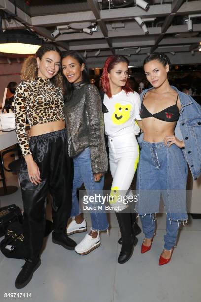 Maya Jama and Bip Ling attend the Fenty Beauty x Harvey Nichols Launch at Harvey Nichols on September 19 2017 in London England