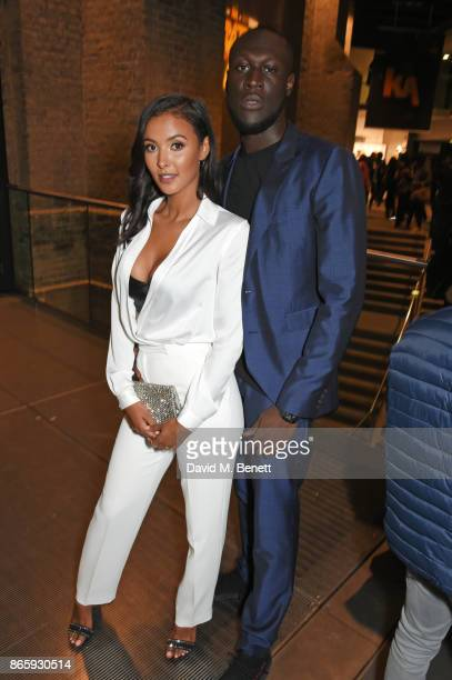 Maya Jama and Stormzy attend The KA GRM Daily Rated Awards at The Roundhouse on October 24 2017 in London England