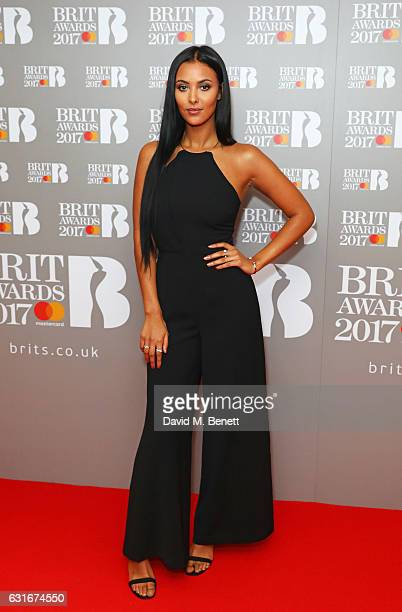 Maya Jama arrives at The BRIT Awards with Mastercard 2017 nominations show at ITV Studios on January 14 2017 in London England