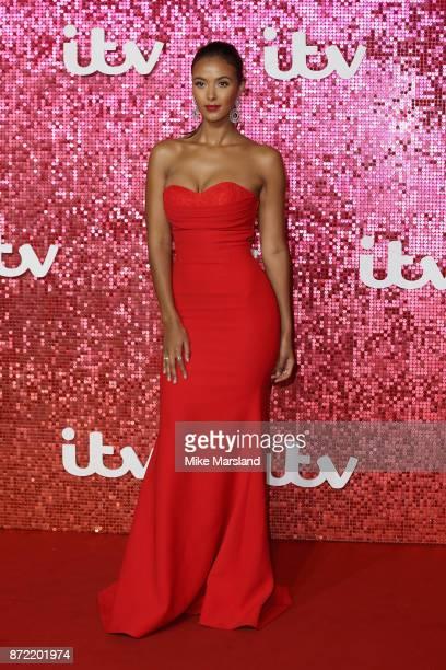 Maya Jama arrives at the ITV Gala held at the London Palladium on November 9 2017 in London England