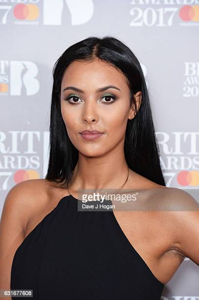 ARTIST Maya Jama attends BRITS nominations launch at ITV Studios on January 14 2017 in London England
