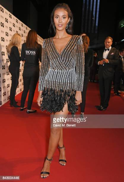 Maya Jama attends the GQ Men Of The Year Awards at the Tate Modern on September 5 2017 in London England