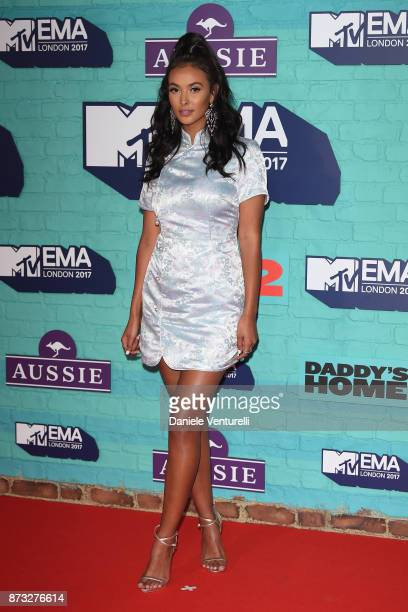 Maya Jama attends the MTV EMAs 2017 held at The SSE Arena Wembley on November 12 2017 in London England