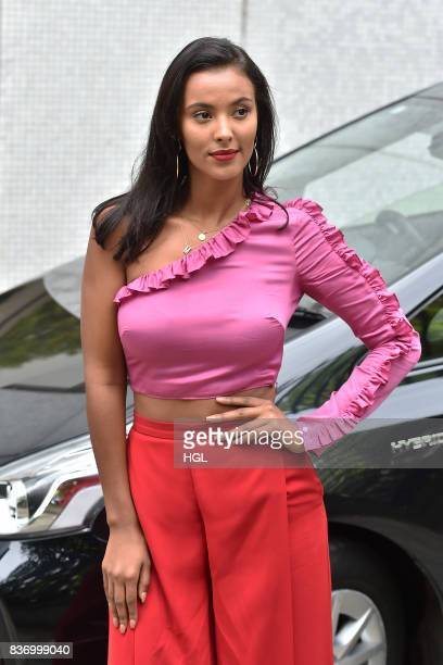 Maya Jama seen at the ITV Studios on August 22 2017 in London England