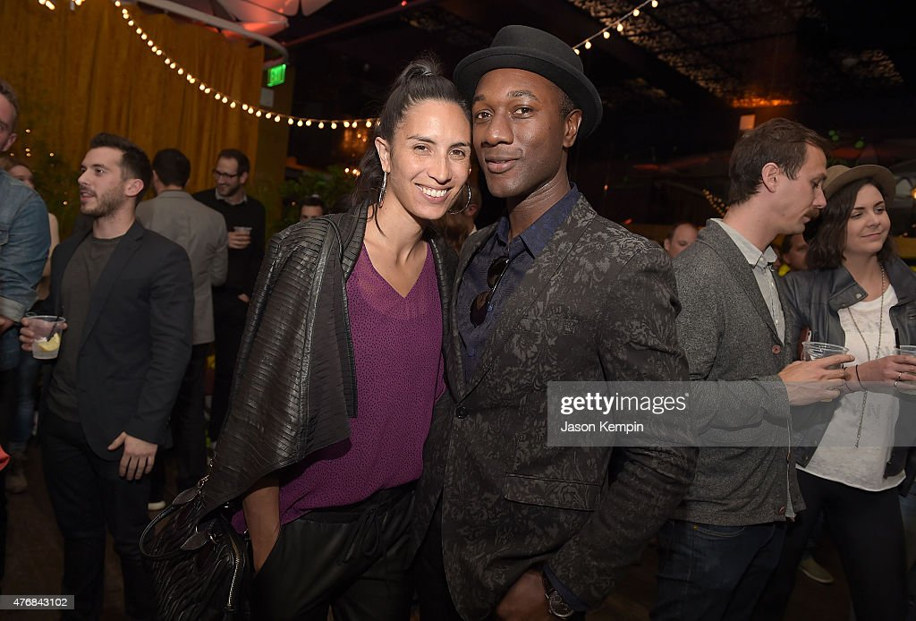 Maya Jupiter and Aloe Blacc attend the after party for the premiere of 'Can You Dig This' at the Conga Room on June 11, 2015 in Los Angeles, California.