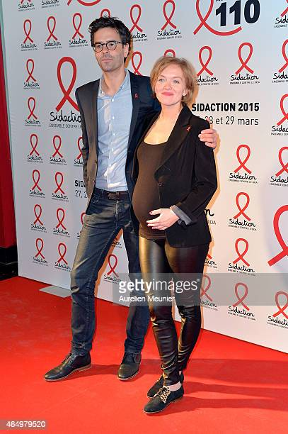 Maya Lauque attends the Sidaction 2015 at Musee du Quai Branly on March 2 2015 in Paris France