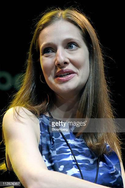Maya Mikhailov vice president and cofounder of GPShopper LLC speaks at Bloomberg Link Empowered Entrepreneur Summit in New York US on Thursday April...