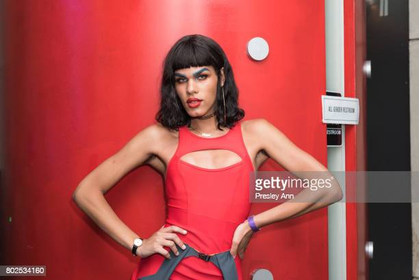 Maya Mones attends MAC Celebrates the Winner of the CFDA/Vogue Fashion Fund Capsule Collection CHROMAT at Maru Karaoke Lounge on June 27 2017 in New...