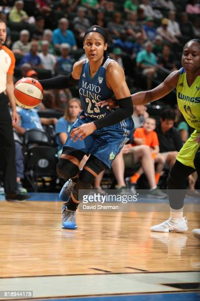 Maya Moore of the Minnesota Lynx handles the ball against the Dallas Wings on July 19 2017 at Xcel Energy Center in St Paul Minnesota NOTE TO USER...