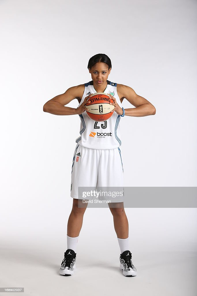 Maya Moore #23 of the Minnesota Lynx poses for portraits during 2013 Media Day on May 16, 2013 at the Minnesota Timberwolves and Lynx LifeTime Fitness Training Center at Target Center in Minneapolis, Minnesota.