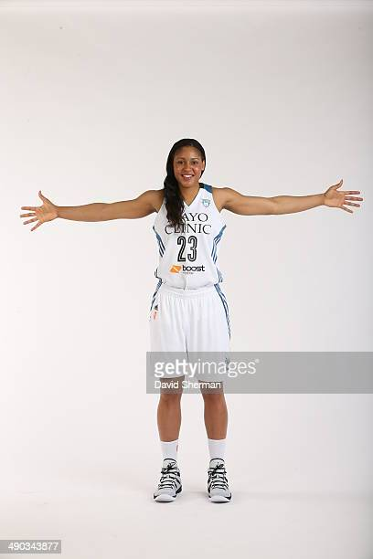 Maya Moore of the Minnesota Lynx poses for portraits during 2014 Media Day on May 12 2014 at the Minnesota Timberwolves and Lynx LifeTime Fitness...