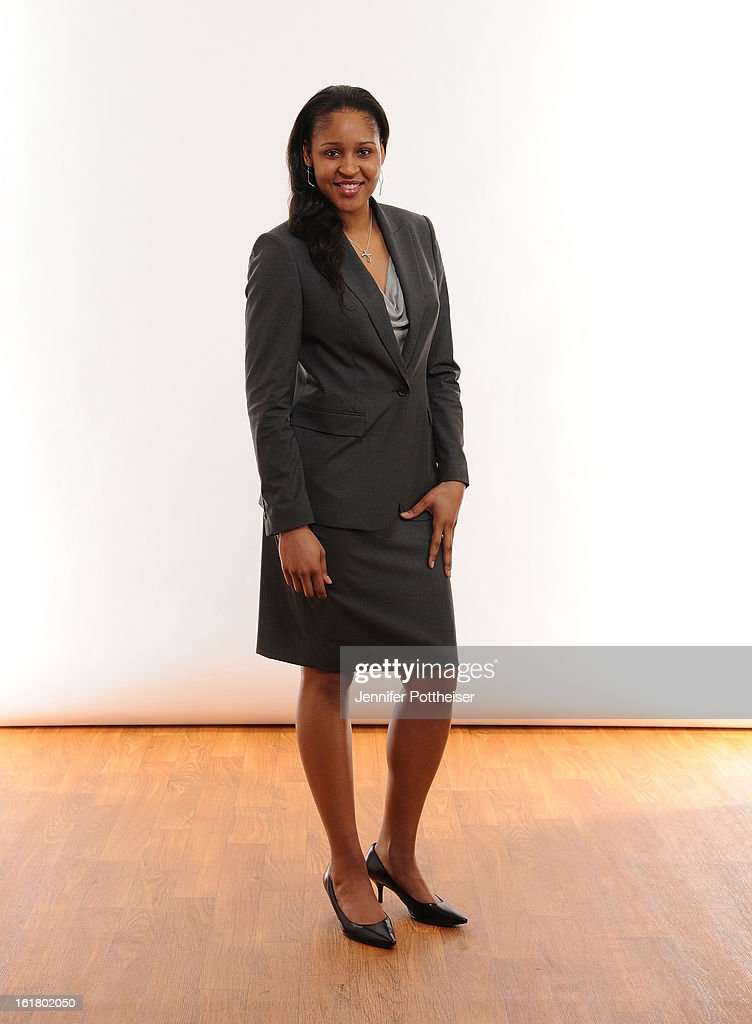 Maya Moore #23 of the Minnesota Lynx poses for portraits during the NBAE Circuit as part of 2013 All-Star Weekend at the Hilton Americas Hotel on February 16, 2013 in Houston, Texas.