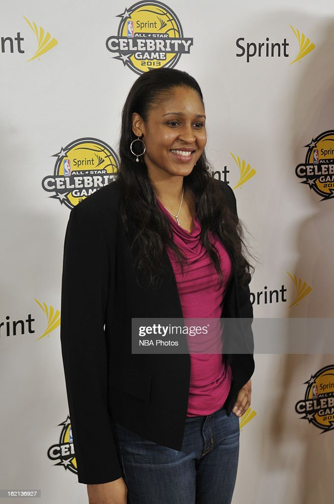 Maya Moore of the Minnesota Lynx poses on the red carpet prior to the Sprint NBA All-Star Celebrity Game in Sprint Arena at Jam Session during the NBA All-Star Weekend on February 15, 2013 at the George R. Brown Convention Center in Houston, Texas.
