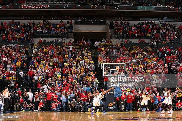 Maya Moore of the Minnesota Lynx takes the game winning shot during Game Three of the 2015 WNBA Finals against the Indiana Fever on October 9 2015 at...