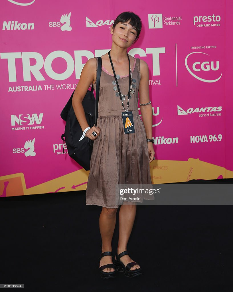 Maya Newell arrives ahead of Tropfest 2016 at Centennial Park on February 14, 2016 in Sydney, Australia.
