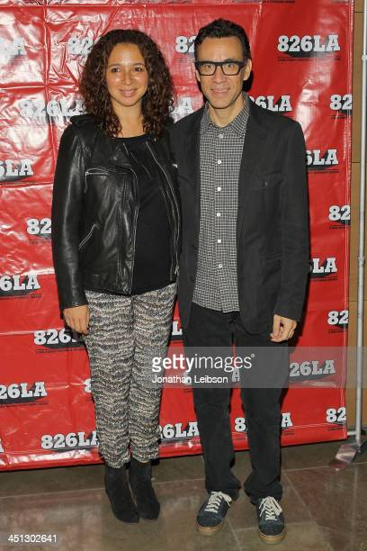 Maya Rudolph and Fred Armisen attend the Adam McKay And Judd Apatow Present 'Anchorman A Benefit' For Nonprofit 826LA at The Broad Stage on November...