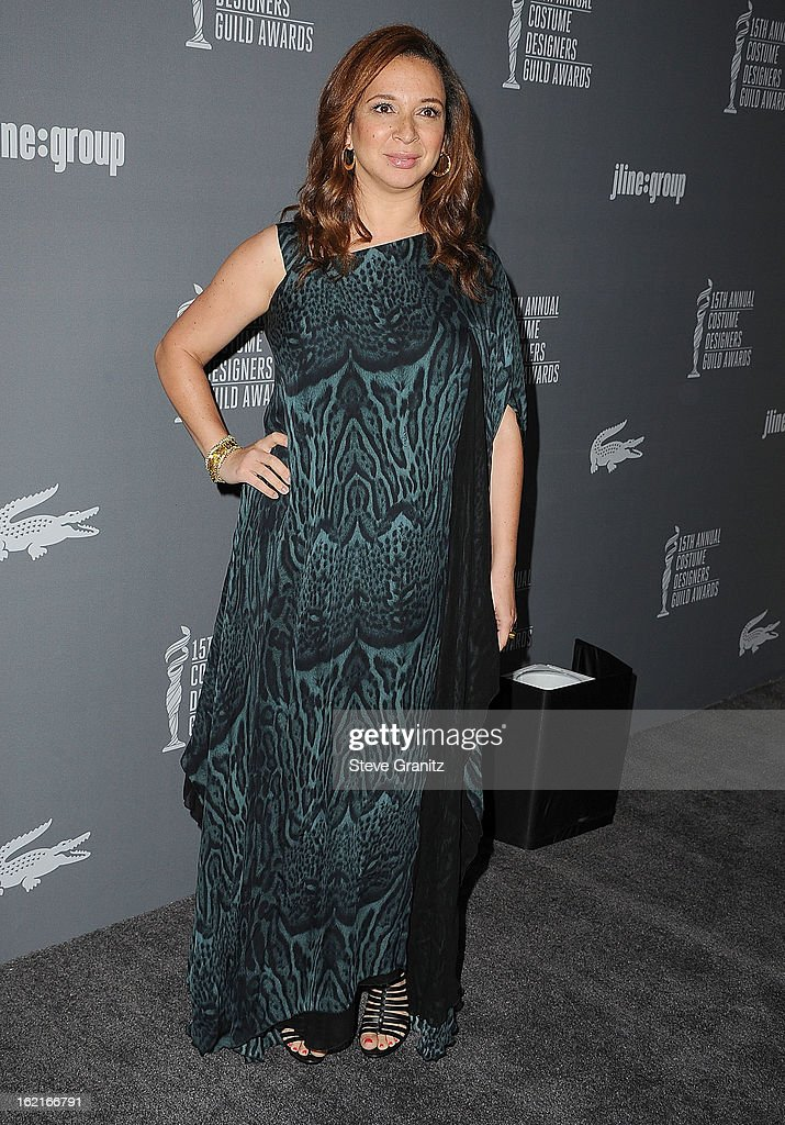 Maya Rudolph arrive at the 15th Annual Costume Designers Guild Awards at The Beverly Hilton Hotel on February 19, 2013 in Beverly Hills, California.