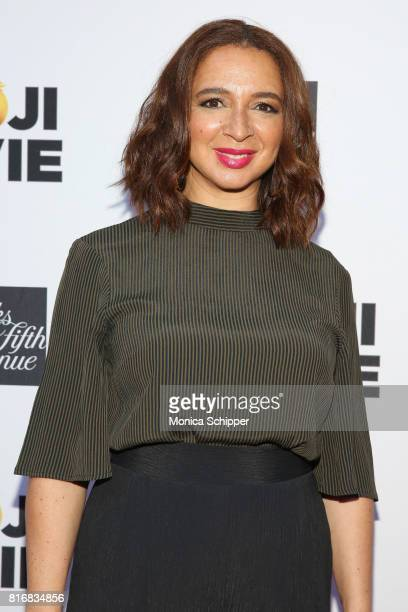 Maya Rudolph attends the Saks Fifth Avenue and Sony Picture Animation's celebration of The Emoji Movie at Saks Fifth Avenue on July 17 2017 in New...