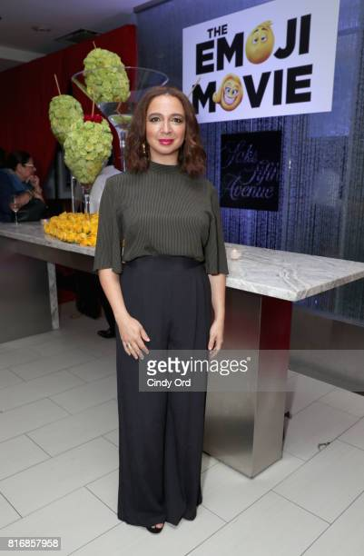 Maya Rudolph attends the Saks Fifth Avenue and Sony Picture Animation's celebration of 'The Emoji Movie' at Saks Fifth Avenue on July 17 2017 in New...