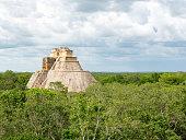 the ancient, historic temple ruin of uxmal in yucatan, mexico