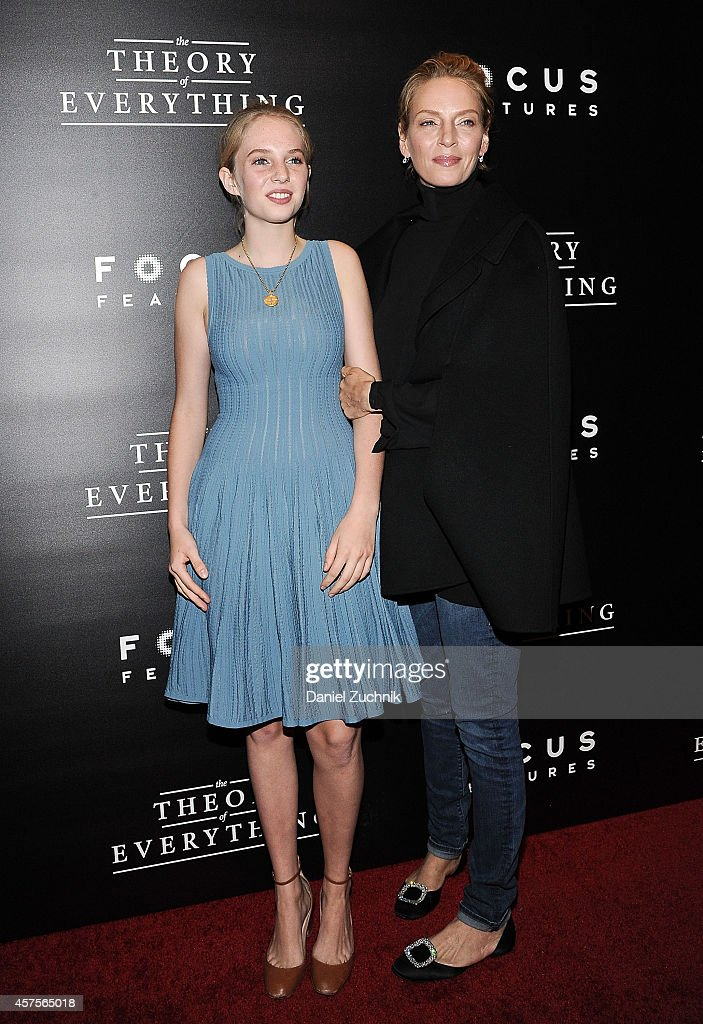 Maya Thurman-Hawke and Uma Thurman attend 'The Theory of Everything' New York Premiere at Museum of Modern Art on October 20, 2014 in New York City.