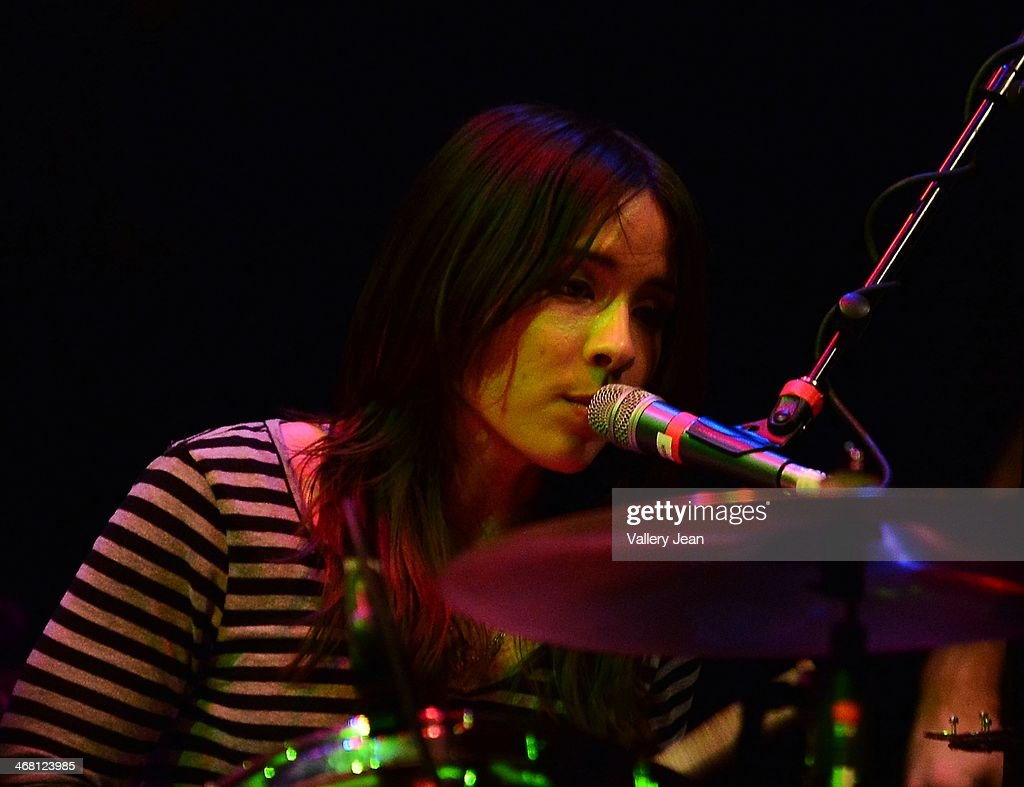 Maya Tuttle of the Colourist performs at Fillmore Miami Beach on February 8, 2014 in Miami Beach, Florida.