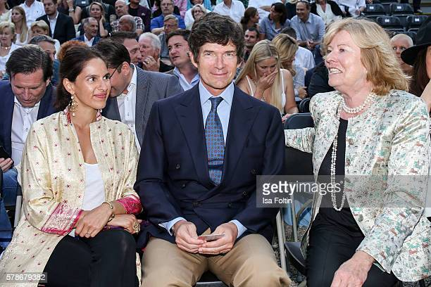 Maya von Habsburg Maximilian von Habsburg and Antoinette Bagusat attend the Tom Jones Concert during the Thurn Taxis Castle Festival 2016 on July 21...