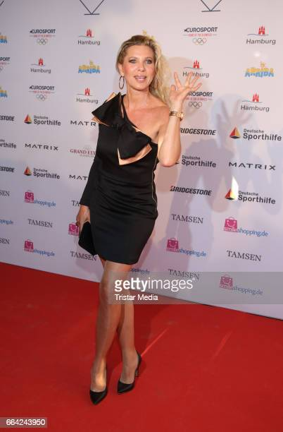 Maya von Hohenzollern attends the German Sports Journalism Award 2017 at Grand Elysee Hotel on April 03 2017 in Hamburg Germany