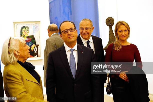 Maya Widmaier Picasso daughter of Pablo Picasso French President Francois Hollande and Diana Widmaier Picasso Grand Daughter of Pablo Picasso...