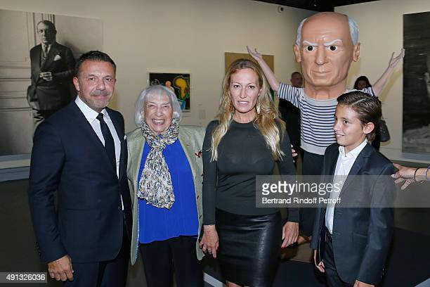 Maya Widmaier Picasso with her childrens Olivier Widmaier Picasso Diana Widmaier Picasso and her Grand Son Edouard Widmaier Picasso attend the...
