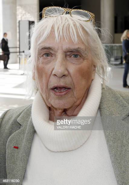 Maya WidmaierPicasso daughter of late Spanish artist Pablo Picasso speaks as she arrives on February 10 2015 at the courthouse in Grasse southeastern...