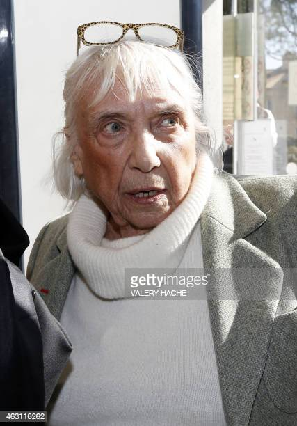 Maya WidmaierPicasso daughter of late Spanish artist Pablo Picasso arrives on February 10 2015 at the courthouse in Grasse southeastern France to...