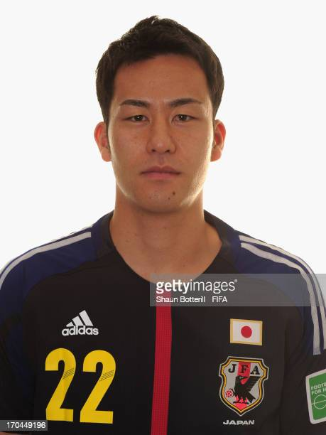 Maya Yoshida of Japan poses for a portrait at the Kubistchek Plaza Hotel on June 13 2013 in Brasilia Brazil