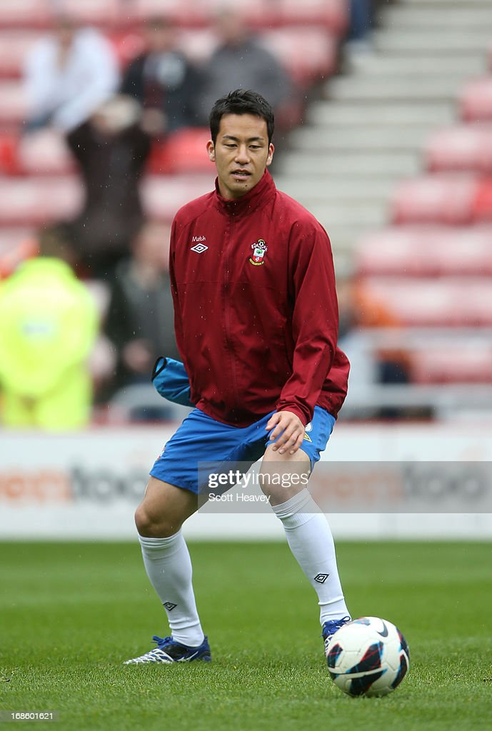 Maya Yoshida of Southampton ahead of the Barclays Premier League match between Sunderland and Southampton at the Stadium of Light on May 12, 2013 in Sunderland, England.