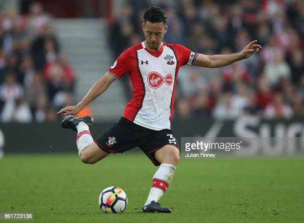 Maya Yoshida of Southampton in action during the Premier League match between Southampton and Newcastle United at St Mary's Stadium on October 15...