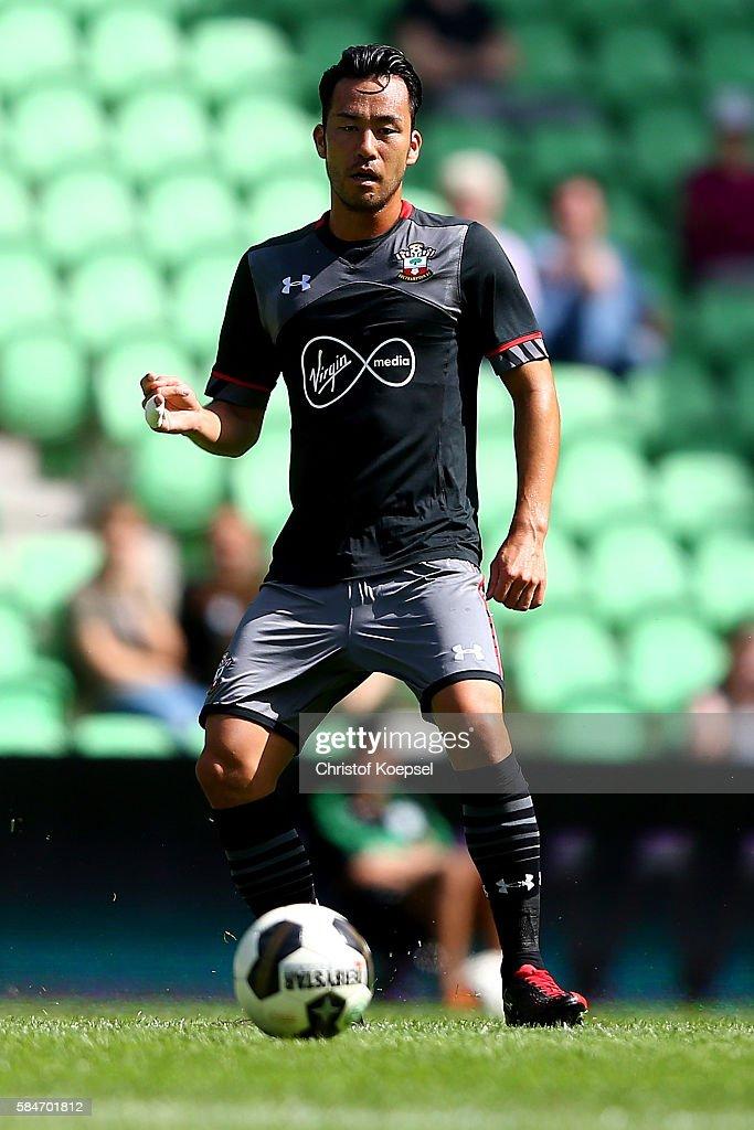 Maya Yoshida of Southampton runs with the ball during the friendly match between FC Groningen an FC Southampton at Euroborg Stadium on July 30 2016...