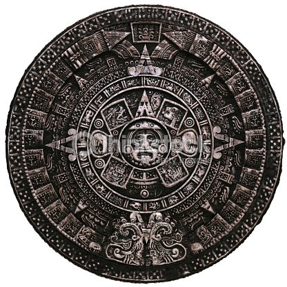 Mayan Calendar On White Background Stock Photo Thinkstock